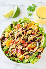 caribbean chicken salad with mango dressing