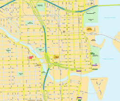 Florida Coast Map Map Miami Fl Downtown Florida Usa City Center Central
