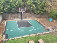 How Much Does A Backyard Basketball Court Cost Backyard Basketball Court Backyard Sports Pinterest Backyard
