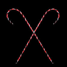 set of 2 peppermint twist giant lighted candy cane pathway markers