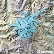 Mt Washington Map by Glaciers Of Washington Glaciers Of The American West