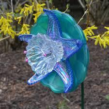 Glass Garden Decor Shop Glass Recycled Garden Art On Wanelo
