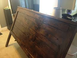 Pine King Headboard by Ana White Rustic Reclaimed Look King Headboard Diy Projects