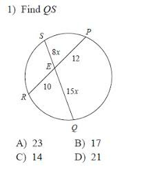 Segment Lengths In Circles Worksheet Answers Circles Segment Measures Worksheets