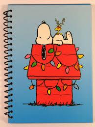 snoopy christmas dog house snoopy christmas hardback spiral bound notebook snoopn4pnuts