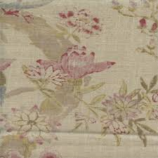 Linen Drapery Arielle Antique Printed Linen Drapery Fabric By Braemore Fabrics