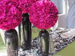 Silver Vases Wedding Centerpieces 28 Best Flirty And Fun Fuschia And Black Images On Pinterest