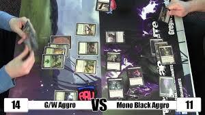 Mtg Sideboard Mtg Standard Gameplay G W Aggro Vs Mono Black Aggro W