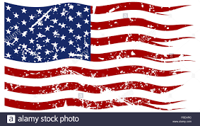 American Flag Picture A Ripped And Torn American Flag With A Grunge Filter Isolated On A