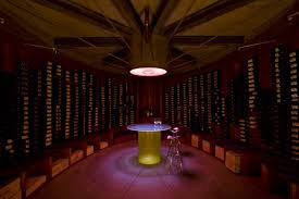 oval wine cellar woodesign