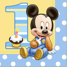 Mickey Mouse 1st Birthday Card Mickey Mouse 1st Birthday Lunch Napkins 16pk Parties4kids