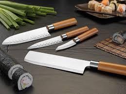 couteau de cuisine pro couteaux de cuisine pro en inox pas cher avec santoku et nakiri