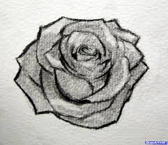easy sketch of a rose free here