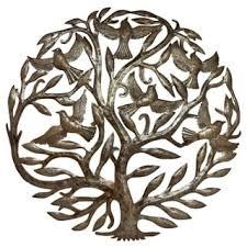 metal tree of handmade drum haiti free shipping