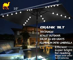 Solar Patio Table Lights by Amazon Com Strong Camel 10 U0027x6 5 U0027 Outdoor Solar 26 Led Lights