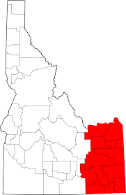 Idaho Counties Map Map Of Idaho Highlighting Eastern Idaho In Red In Terms Of