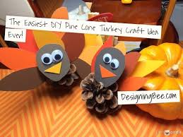 thanksgiving craft ideas diy pine cone turkey designing bee