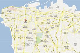 touristic map of beirut map