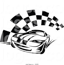 Checkered Flag Eps Royalty Free Race Car And Checkered Flag Logo By Vector Tradition