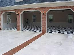 photo gallery racedeck 3 car garage with black and white racedeck diamond flooring
