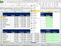 Excel Timesheet Template With Formulas Office 2010 Class 31 Excel Number Format Payroll