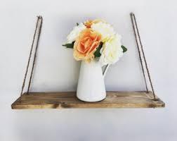 Rustic Wood Bookshelves by Hanging Shelf Cord Rustic Wood Shelf Floating Shelf