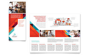 fold brochure template flyer template software application software developer tri fold