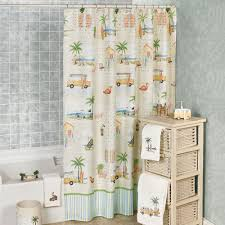 Tropical Beach Shower Curtains by Magnificent Coastal Themed Shower Curtains In Tropical Blue