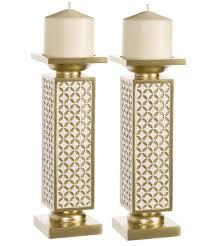 amazon com schonwerk diamond lattice decorative pillar candle