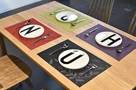large plastic table mats z jian home decor set of 4 pvc placemats for dining table heat