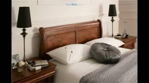 louie dark wooden sleigh bed youtube