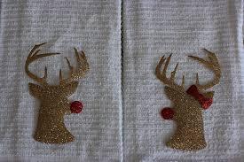 handmade hostess christmas gift idea mr and mrs rudolph towels