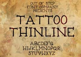 top 30 best old tattoo fonts u2013 out of step font company