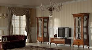 Tv Wall Units Classic Tv Wall Unit Wooden Lacquered Wood Glass La Dolce
