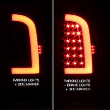 fiber optic tail lights for 05 11 tacoma black housing headlights fiber optic tube led