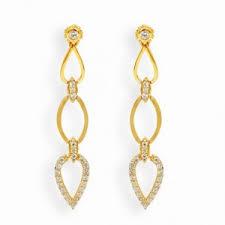 stylish gold earrings earrings stylish gold curve earrings online shopping india grt