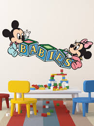 28 baby mickey mouse wall stickers free shipping baby baby mickey mouse wall stickers baby mickey cartoon wall decal home decor india by