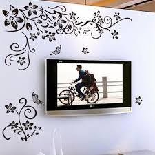 home decor 3d stickers hot diy wall art decal decoration fashion romantic flower wall