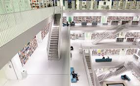 this stadtbibliothek stuttgart library in germany is a heavenly