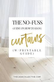 How To Hang Draperies The No Fuss Guide On How To Hang Curtains