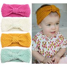 knitted headbands aliexpress buy baby autumn crochet bow headbands