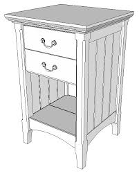 cherry bedside table shop drawings popular woodworking magazine