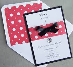 red black and white invitation mickey mouse invitation