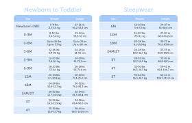 size guide gerber childrenswear