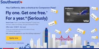 California best credit card for travel images Companion pass offer now open to all california residents png