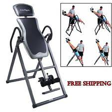 inversion table back pain relief gravity therapy bench exercise