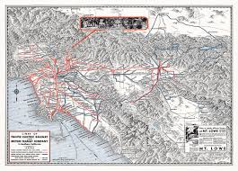 Amtrak Map East Coast by 1933 Map Of The Pacific Electric Railway U2013 Transit Maps Store