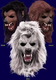Werewolf Halloween Costume Specter Werewolf Halloween Costume Latex Fur Mask Scary Silver