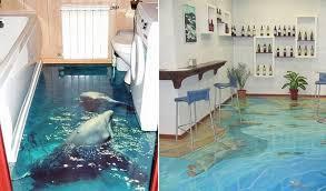 3d ocean epoxy polimer floors for kitchen