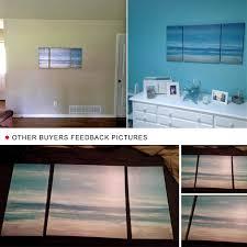 Ocean Home Decor by Amazon Com Cubism 3 Panels Seascape Ocean Canvas Prints Landscape